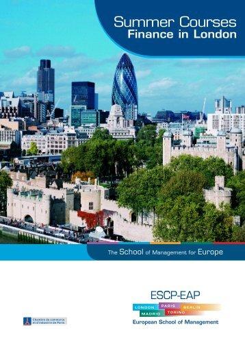 Finance in London - ESCP Europe Business School