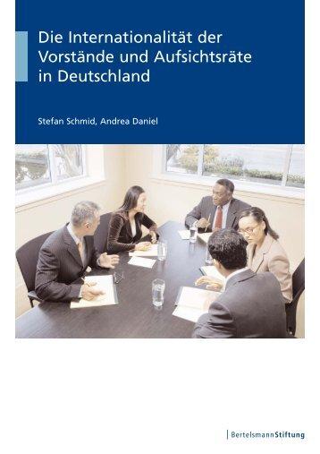 Die Internationalität der Vorstände und Aufsichtsräte in Deutschland