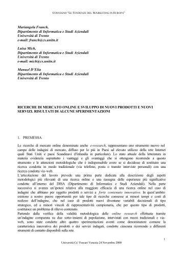 Mariangela Franch, Dipartimento di Informatica e ... - ESCP Europe