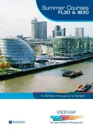 summer courses - ESCP Europe Business School