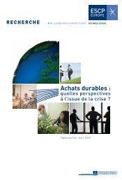 Achats durables - ESCP Europe