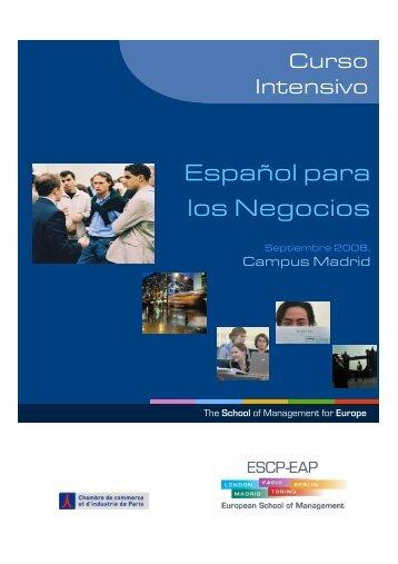 Español para los Negocios - ESCP Europe