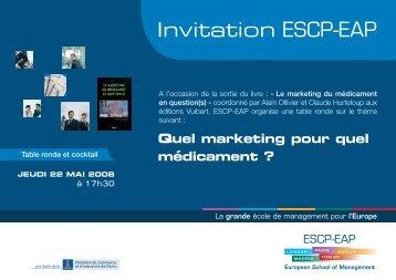 Téléchargez votre invitation - ESCP Europe
