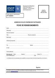 FICHE RENSEIGNEMENTS etudiants ecoles d ... - ESCP Europe