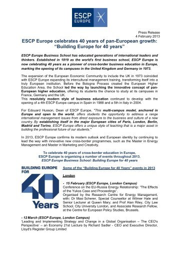 download this press release escp europe - Mad Bewerbung