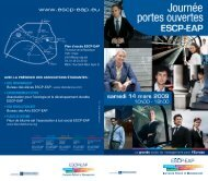 Téléchargez le programme des JPO 2009 - ESCP Europe Business ...