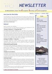 ESC Newsletter 2005 Vol.2 Nr.3 - The European Society of ...