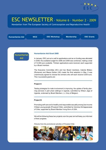 Volume 6 - Number 2 - 2009 - The European Society of ...