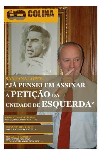 A PETIÇÃODA - Escola Superior de Comunicação Social - Instituto ...