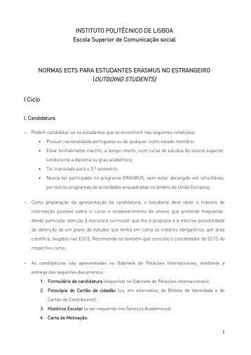 Normas ESCS - Escola Superior de Comunicação Social - Instituto ...