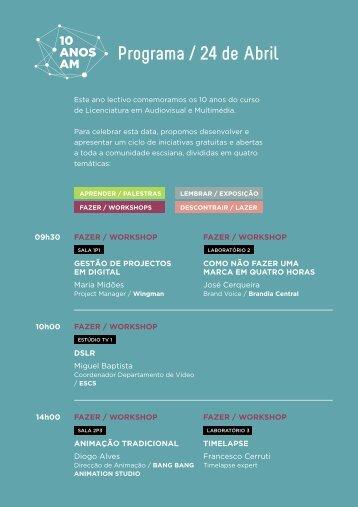Programa / 24 de Abril