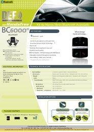Kit de Manos libres Bluetooth Avanzado m