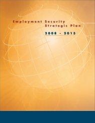 Employment Security Strategic Plan 2008 - 2013