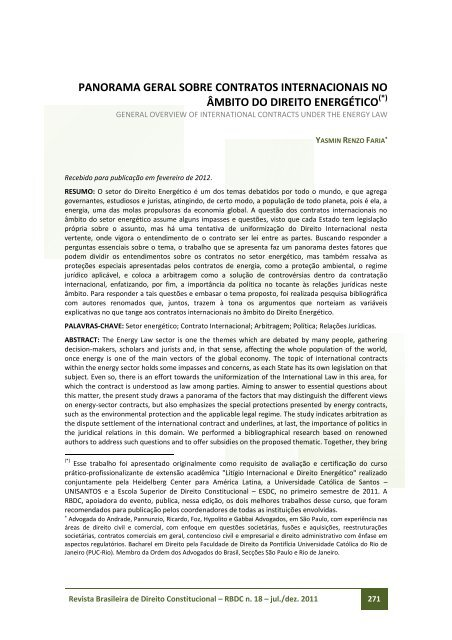 panorama geral sobre contratos internacionais no âmbito do direito ...