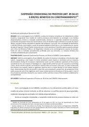 SUSPENSÃO CONDICIONAL DO PROCESSO (ART. 89 DA LEI ...