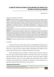 O Direito Constitucional Estadunidense na Perspectiva Retórica de ...