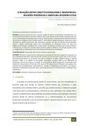 a relação entre constitucionalismo e democracia - Escola Superior ...