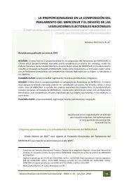 la proporcionalidad en la composición del parlamento del mercosur ...