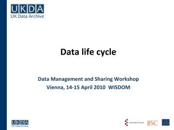 Data life cycle - ESDS