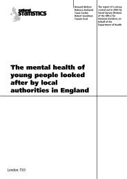 The mental health of young people looked after by local ... - ESDS