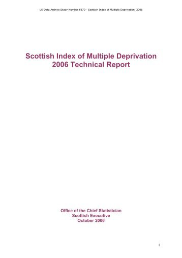 Scottish Index of Multiple Deprivation Technical Report - ESDS