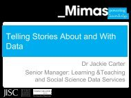 Telling stories about and with data - ESDS