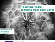 Teaching tools - learning from each other - ESDS