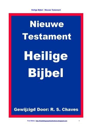 Heilige Bijbel - Nieuwe Testament
