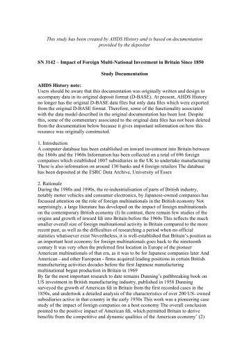 Study Documentation SN 3142 – Temporary OCRed version - ESDS