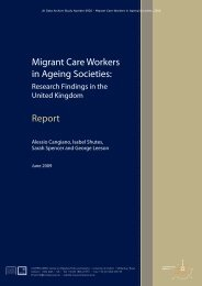 Migrant Care Workers in Ageing Societies, 2008 - Report - ESDS