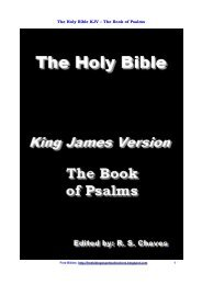 The Holy Bible KJV – The Book of Psalms