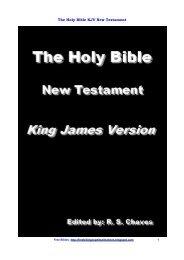 The Holy Bible KJV New Testament