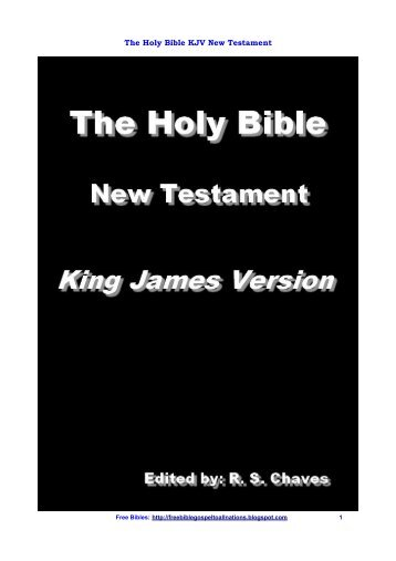 The Holy Bible KJV New Testament