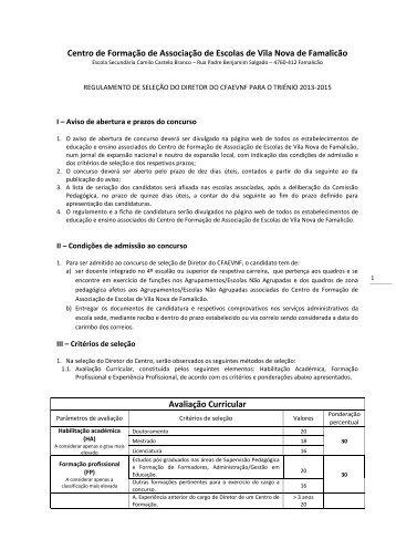 Regulamento - Agrupamento de Escolas de Ribeirão