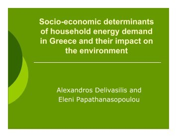 Presentation - ESEE 2011 - Advancing Ecological Economics