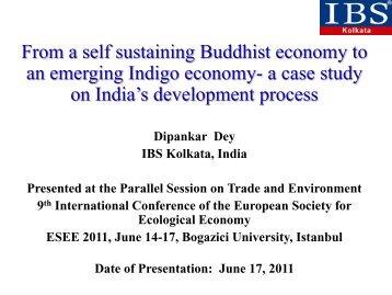 Indigo economy - ESEE 2011 - Advancing Ecological Economics