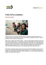 ESKAM Haberler - Esenler Belediyesi