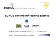 Benefits for regional airlines [Compatibility Mode] - ESESA