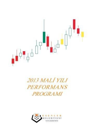 Esenler Belediye Başkanlığı Performans Programı 2013