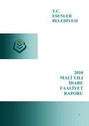 Esenler Belediyesi Faaliyet Raporu 2010