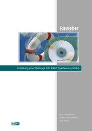 Erstellung einer Rettungs-CD: ESET SysRescue (32-Bit)
