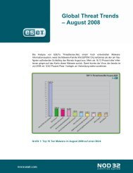 Global Threat Trends – August 2008
