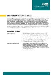 ESET NOD32 Antivirus Home Edition Wichtigste Vorteile