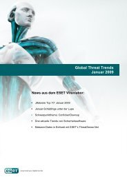 Global Threat Trends Januar 2009 News aus dem ESET Virenlabor