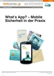 What's App? – Mobile Sicherheit in der Praxis