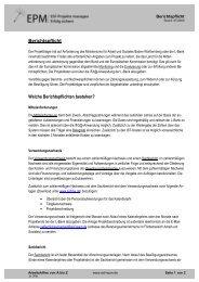 Berichtspflicht Welche Berichtspflichten bestehen? - esf-epm