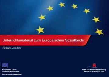 Informationsmaterial zur Europäischen Union und ... - ESF in Hamburg