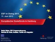 Vortrag Martin Weber (PDF) - ESF in Hamburg