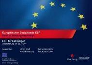 Leistungsbeschreibung - ESF in Hamburg