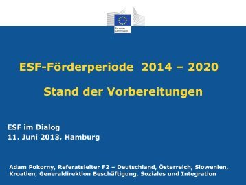 Vortrag Adam Pokorny (PDF) - ESF in Hamburg